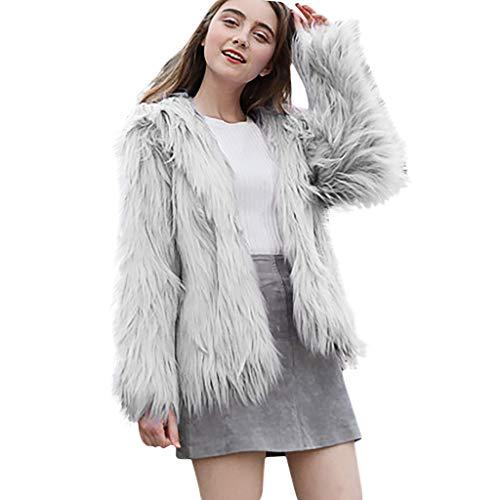 DERENFR Manteaux Femme Vintage,Manteaux Femmes Chaud,Manteau Femme,Mode Womens l'hiver Solide Encapuchonné Veste Manteau Chaud Longue Manches Peluche Pardessus