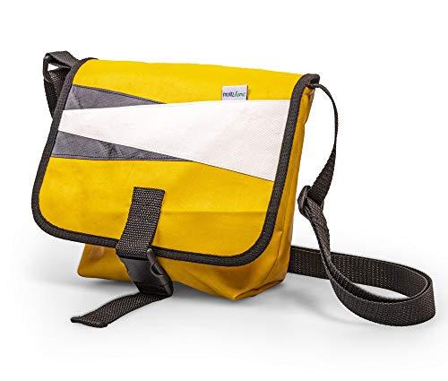 moritzhome Tasche Göteborg, aus gebrauchter Hüpfburgplane, Schultertasche aus Upcyclingmaterial, Planentasche