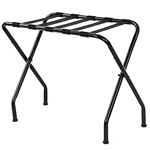 Review Of Mojogy Metal Folding Luggage Rack with Shelf (Pack of 1),Luggage Stand for Suitcase, for H...
