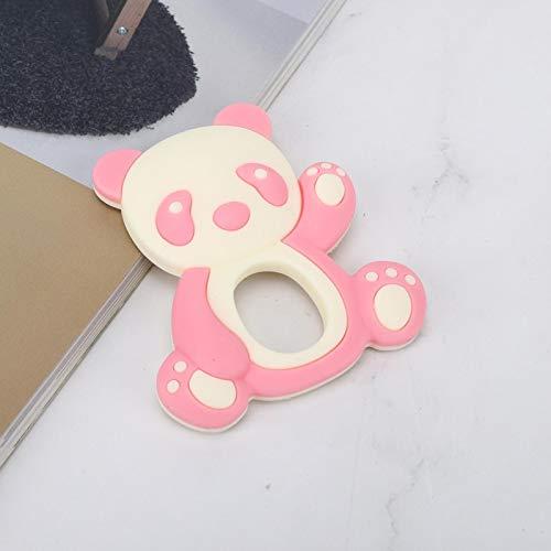 Juguetes para la dentición Mordedor de Silicona Múltiples Puntos de mordida diseñados para Llevar Felicidad a los niños y aliviar el Dolor de la dentición(Pink)