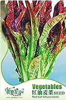 オリジナルパック、30種子/パック、赤サラダボールリーフレタス種子Lactuca Sativa有機家宝野菜