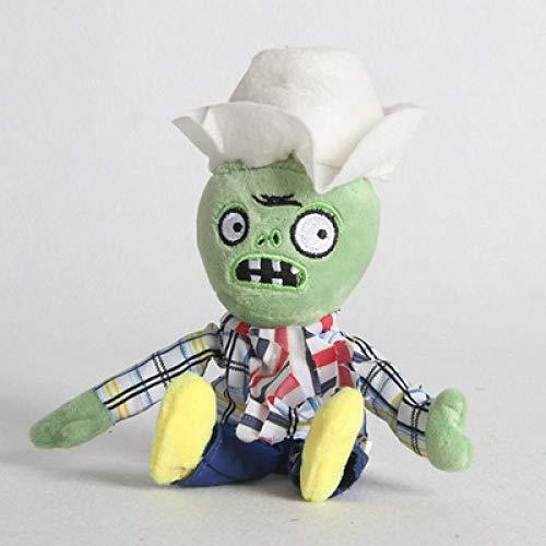 Zombies de peluche con diseño de plantas vs. Zombies bolsa colgante de peluche muñeca de hielo guisante tirador tela zombi muñeca pirata