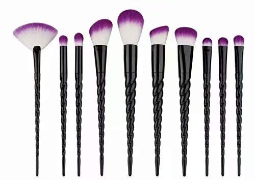 LINSUNG, Set de brochas para maquillaje - 10 brochas