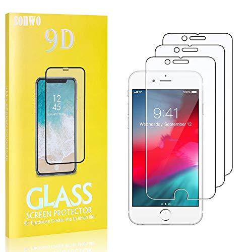 3 Stück Displayschutzfolie Kompatibel mit iPhone SE 2020 / iPhone 8 / iPhone 7, SONWO 9H Härte und Bubble Free HD Klar Glas Displayschutz für iPhone SE 2020 / iPhone 8 / iPhone 7