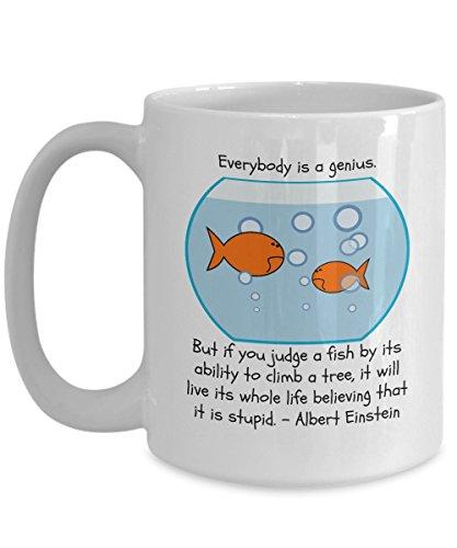 'Everybody is a Genius' Albert Einstein Coffee Mug