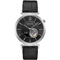 Bulova 40mm Slim Regatta Automatic Leather Men's Watch