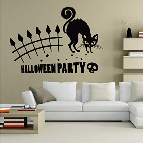 GBICjdojf Modern Festival Wall Stickers Happy Halloween Window Showcase Wall Stickers Removable Art Vinyl Home Room Decoration Decal Decor
