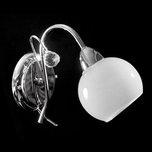 Europrimo Applique plafoniera Lampada da Parete Moderna cromata con Cristallo 1 Luce