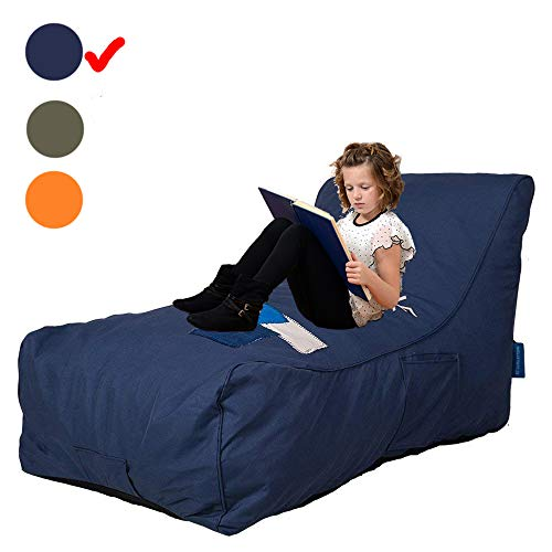 Livebest Bean Bag Chair - Floor Chair Couch Lazy Lounger Memory Foam Sofa with Dirt-Proof Oxford Fabric&Side Pocket for Kids Age 2 and Up,MOM I