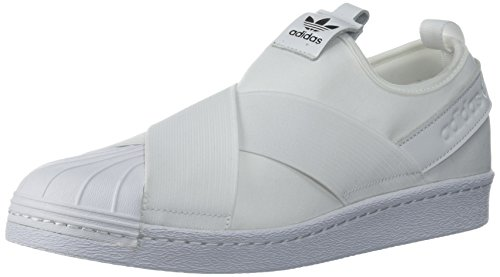 adidas Originals Damen Superstar Slip On Turnschuh, Weiß/Weiß/Kernschwarz, 39 EU