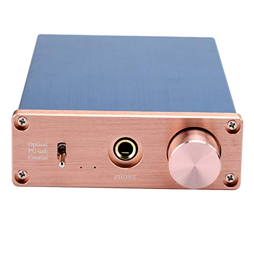Decodificador de Sonido de Audio, PC-USB / Coaxial / Amplificador de Auriculares de Audio Digital, Decodificador de Sonido Digital HiFi DAC de 24 bits, Convertidor de Digital a analógico(Azul)