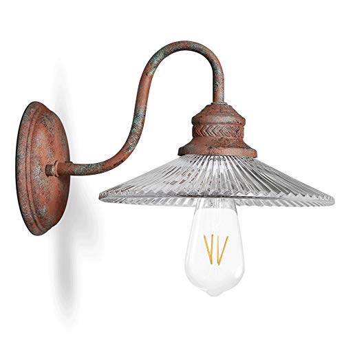 Retro - doe de ouderwetse oude glazen lampenkap wandlampen dakvloer industriële artrestaurantslaapkamer-nachthuisverlichtingswand
