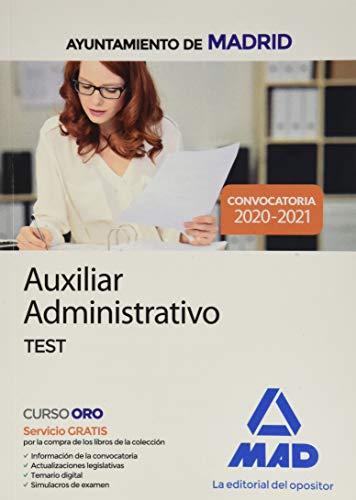 Auxiliar Administrativo del Ayuntamiento de Madrid. Test