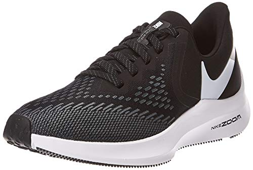 Nike Womens Zoom Winflo 6 Running Sneakers Black/White-Dark Grey AQ8228-003 (8.5 B US)