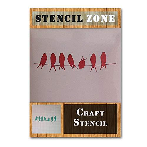 Shabby Chic Vögel rustikale Weinlese Mylar Airbrush Malerei Wand Crafts Stencil 2-M