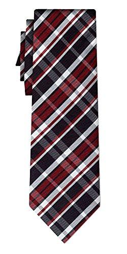 Cravate soie tartan pattern black burg