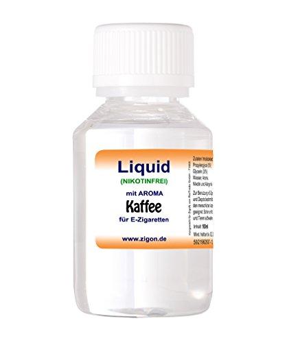 100 ml KAFFEE ZigoN E-Liquid - MADE IN GERMANY - mit Nikotin 0,0mg - KAFFEE