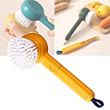 ZLSL Fruit and Vegetable Cleaning Brushes, 2 in 1 Vegetable Brush, Fruit Brush, Vegetable Brush, Vegetable Scrubber Potato Scrubbing, Kitchen Peeler Cleaning Supplies (Yellow)