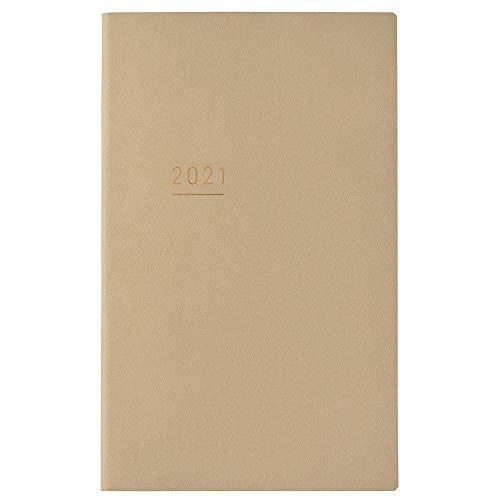 コクヨジブン手帳Litemini手帳2021年B6スリムマンスリー&ウィークリーベージュニ-JLM1LS-212020年12月始まり