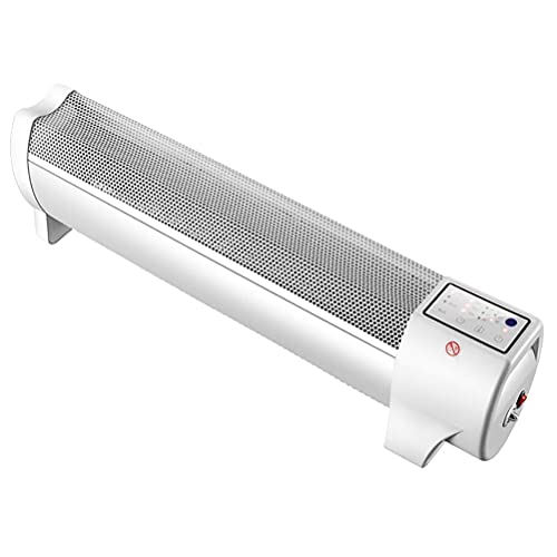 Daily Accessories Baseboard Heater 2000W Electric Skirting Board Convector Heater Nichrome Wire Heating with Thermostat Multiple Protection for 25㎡ Greenhouse Pergola Shed Garage