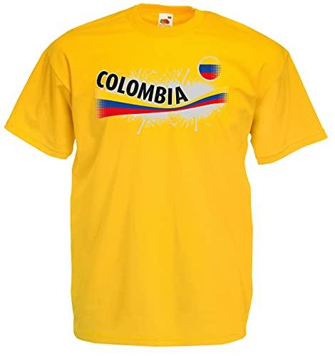 Kolumbien Herren T-Shirt Columbia Vintage Trikot|XL