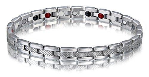 SSC Magnet Armband Edelstahl | silber poliert/matt | Magnetarmband (2000+ Gauss) | antiallergener Schmuck (316L Chirurgenstahl) | Ideal als Geschenk [SSC-177]