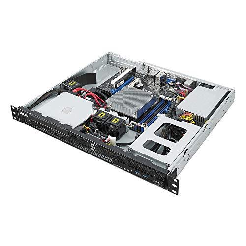 Asus server RS100-E10-PI2, cpu intel Xeon E, rack 1U,4 slot di memoria fino ad un max di 64gb UDIMM, DDR4 2666, 2 slot 3.5' hdd, 2 connettori M.2, 4 lan, raid 0,1