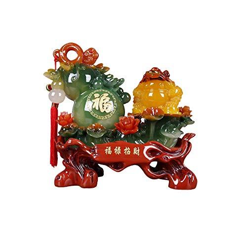 hongbanlemp Estatuas Decorativas Lucky Money Frog Decoración Dorado Sapo Estatua Apertura Regalos Home Crafts Golden Toad Decoración Creativa Feng Shui Ornamentos Salon Estatuas Decorativas