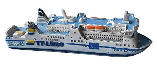 Unbekannt Schiffsmodell MS Nils Dacke Miniatur Schiff