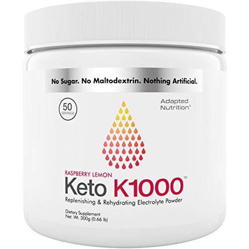 Keto K1000 Electrolyte Powder | Energy Boost & Beat Leg Cramps | No Maltodextrin or Sugar | No Chinese or Pakistani ingredients | 50 Livwell Products Servings Servings | 50
