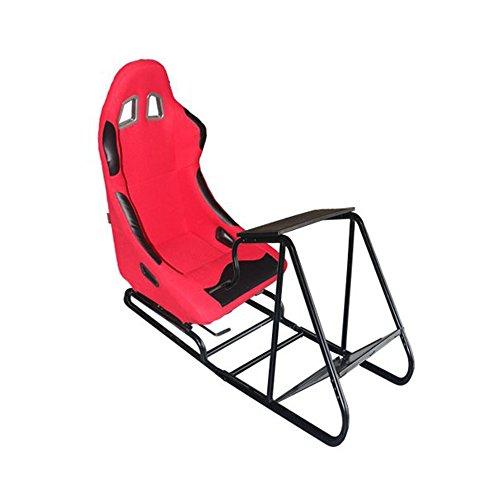MODAUTO Estructura para Videojuego, Estructura Simulador de Conducción con Asiento Deportivo de Tela, Modelo N810A-N050, Rojo