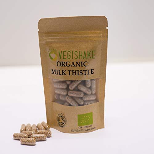 Organic Liver Detox Vegan Pullulan Capsule Nutrition Supplement Liver Detox Silymarin Antioxidant (90 Capsules)