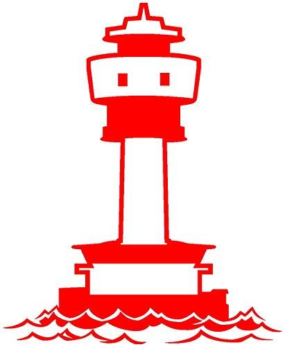 Samunshi® Leuchtturm Kiel Aufkleber in 8 Größen und 25 Farben (12x15cm hellrot)