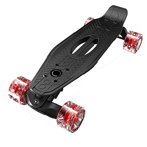 Nengge Mini Cruiser skateboard voor kinderen, professioneel, kunststof, versterkt, dek met lichtgevende wielen, 54 x 24 x 16,5 cm