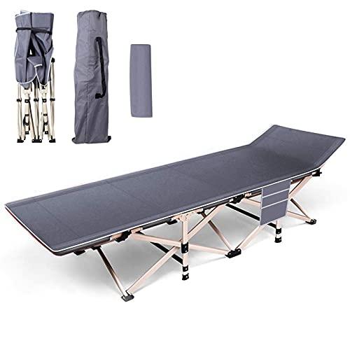 Cama de Campamento| Cama de Camping|Cama Plegable de Aluminio Incluye Almohada & Bolsa de Almacenamiento con Acolchado Capacidad de Carga 150kg para Interiores y Exteriores 190 * 67 * 36cm