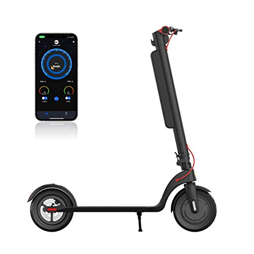 ETTRONE Aria LX Electric Scooter Black for Youth/Adults, Lightweight & Portable, Up to 28 Miles Range, Max Speed 20 MPH, Foldable & Commuting Electric Scooter