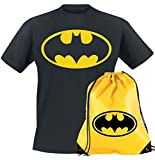Camiseta de Batman para adultos y nios Super Heroes Camisas + bolsa de gimnasio con cordn mochila comics Dark Knight Film Merchandising