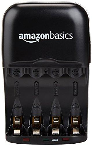 Panasonic eneloop, Ready-to-Use NI-MH Akku, AAA Micro, 8er Pack, min. 750 mAh, 2100 Ladezyklen, Starke Leistung & Amazon Basics Batterieladegerät für NI-MH AA/AAA Akkus und USB Geräte