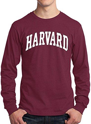 Harvard Shirt Long Sleeve Harvard University T-Shirt Crimson XXL