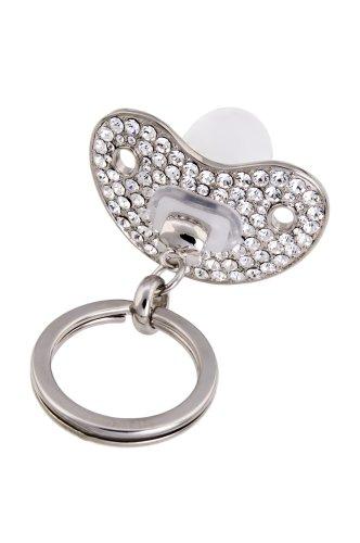 Gift Company 72429 Schnuller Schlüsselanhänger Silber klare Steine