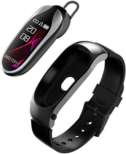 Reloj Inteligente Bluetooth Auriculares Fitness Actividad Pulsera Monitor de Ritmo Cardíaco Podómetro Cronómetro Pulsera Inteligente Hombres Mujeres