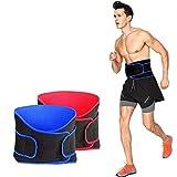 Cintura da allenamento per la vita del ventre e la cintura di supporto per la vita, regolabile, traspirante, per sollevamento pesi, palestra, allenamento fitness, Rosso, taglia unica