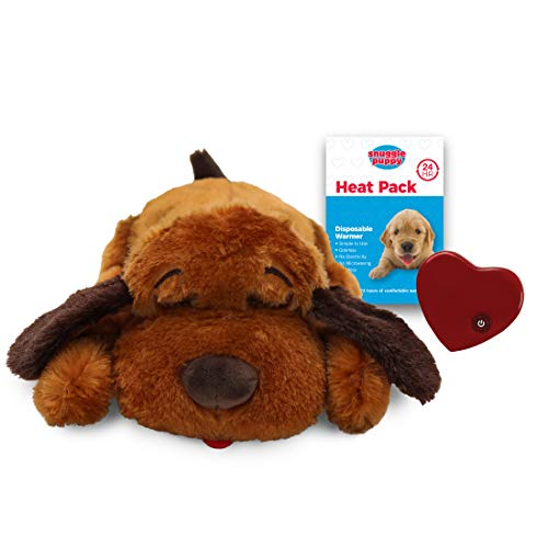 SmartPetLove Snuggle Puppy Behavioral Aid Toy, Brown Mutt, Small (SP101)