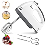Hand Mixer Electric, 2020 New Lightweight Handheld Whisk, 7-Speed Hand-Held Electric Mixer Stainless...
