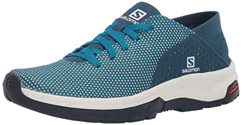 Salomon Women's Tech Lite Walking Shoe, ICY Morn/Poseidon/Navy, 8