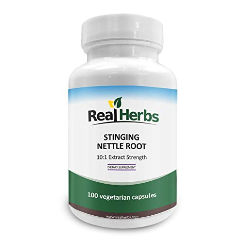 Stinging Nettle Root 10:1 Pure Extract 750mg (Equivalent to 7500mg Raw Stinging Nettle Root) Promotes Prostate & Urinary Tract Health - 100 Vegetarian Capsules