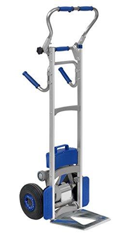 Wesco 274151 Power Liftkar SAL Stair Climbing Fold-L Frame Hand Truck, Pneumatic Tire, 375-lb. Capacity, 19' Width x 64-1/2' Height