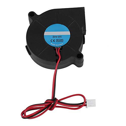 ASHATA Ventola per Stampante 3D DC 12 / 24V, Ventola Radiale 50x50x15mm per turbina, Super Ventilation Ventola Dissipatore di Calore Kit Fai da Te per Stampante 3D Nero(24V)