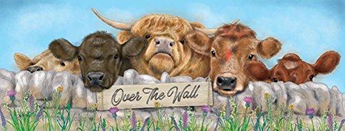 Plaque murale en métal « Over The Wall » 40 x 15 cm