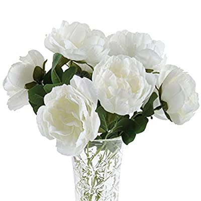 Beferr Artificial Peony Silk Flowers 10pcs Real...